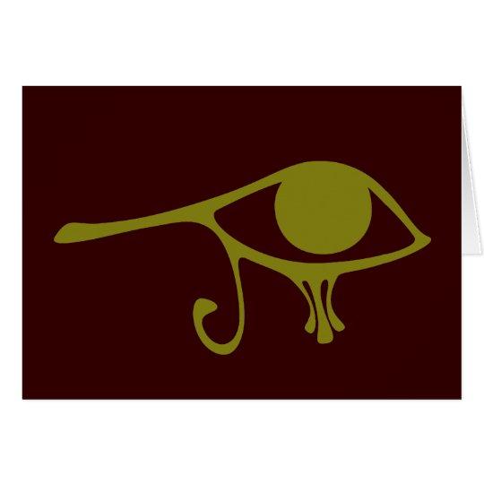 Mud Green Eye of Horus Card