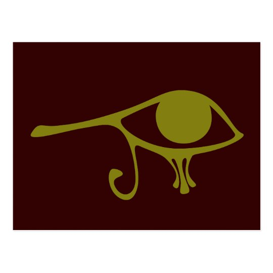 Mud Green Eye of Horus Postcard