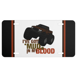 Mud in my Blood License Plate