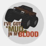 Mud in my Blood Round Stickers