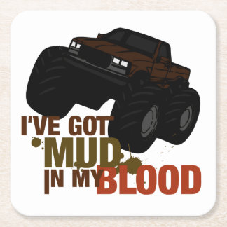 Mud in my Blood Square Paper Coaster