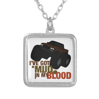 Mud in my Blood Square Pendant Necklace