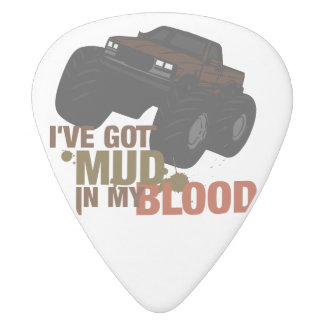 Mud in my Blood White Delrin Guitar Pick