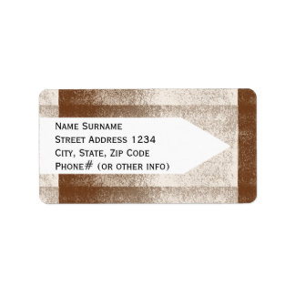 Mud Lover Brown and Ivory Splash Style Label