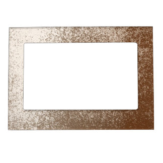 Mud Lover Brown and Ivory Splash Style Magnetic Frame