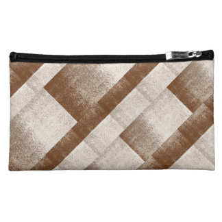 Mud Lover Brown and Ivory Splash Style Makeup Bag