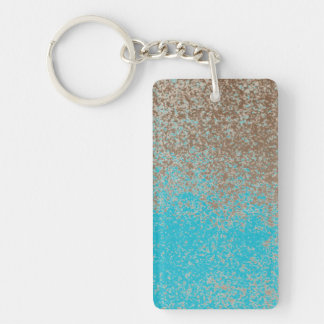 Mud Lover Brown Splash Aged Paint +Pick Your Color Keychain