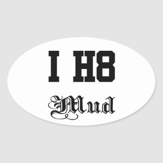 mud oval sticker