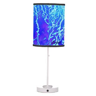 Mud patterns in aqua lamp