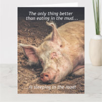 Mud Pig Birthday Card