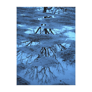 Mud Puddle Puzzle Canvas Print