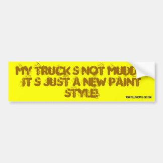 mud style bumper sticker