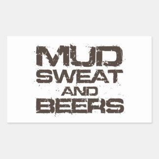 Mud Sweat and Beers Rectangular Sticker