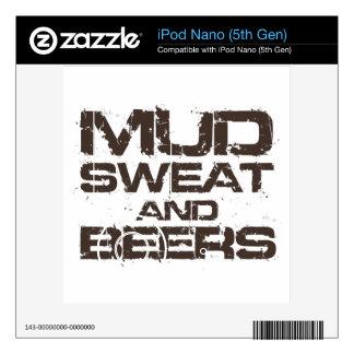 Mud Sweat and Beers iPod Nano Decals
