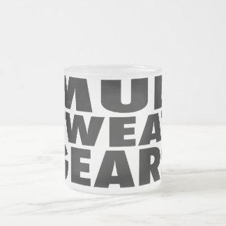MUD SWEAT GEARS FROSTED GLASS COFFEE MUG