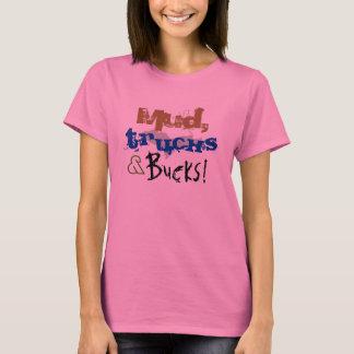 """""""Mud, Trucks and Bucks""""Pink Upper Peninsula tshirt"""