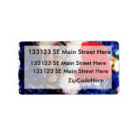 Mud turtle with head covered in santa hat personalized address labels