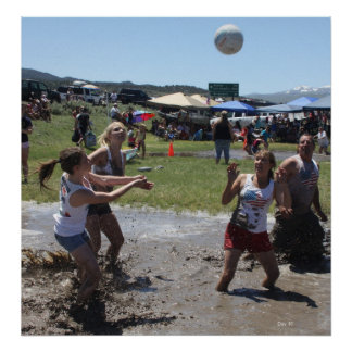 Mud Volleyball, Bridgeport, Fourth of July Poster