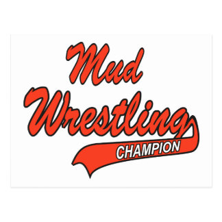 Mud Wrestling Champion Gift Postcard