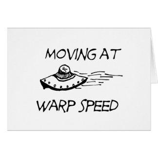 Mudanza a la velocidad de la deformación tarjeta de felicitación