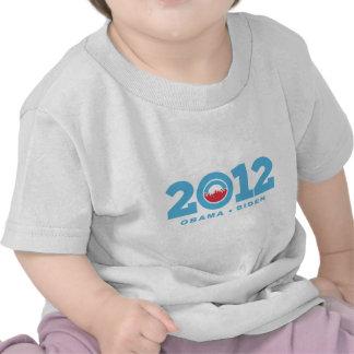 Mudanza adelante de 2012 camisetas