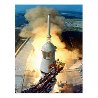 mudanza al lanzamiento 11 de Apolo once del éxito Postal