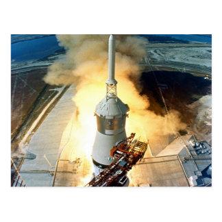 mudanza al lanzamiento 11 de Apolo once del éxito Postales