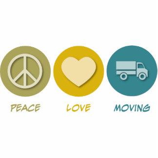 Mudanza del amor de la paz escultura fotográfica
