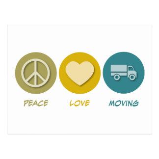 Mudanza del amor de la paz tarjetas postales