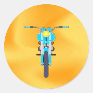 Mudanza para amar la moto del éxito pegatinas redondas