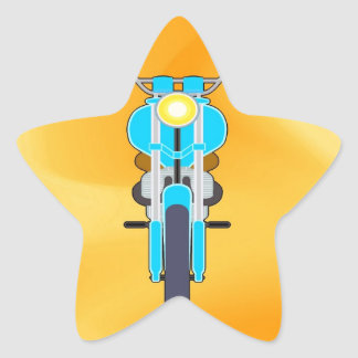 Mudanza para amar la moto del éxito calcomanías forma de estrellaes