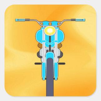 Mudanza para amar la moto del éxito calcomanías cuadradas personalizadas