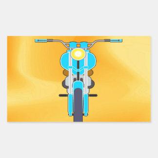 Mudanza para amar la moto del éxito rectangular pegatina