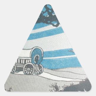 Mudanza peor occidental del caravane del proyecto pegatinas triangulo