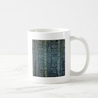 Mudcloth inspired print coffee mugs