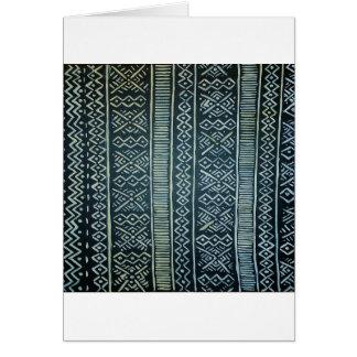 Mudcloth inspiró la impresión tarjeta de felicitación