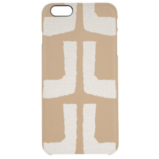 Mudcloth Modern Tribal African print Clear iPhone 6 Plus Case