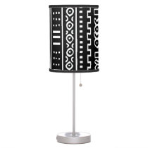 Mudcloth Pattern Desk Lamp