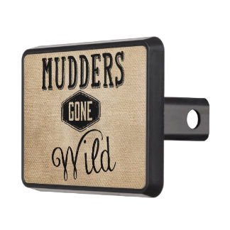 Mudders Gone Wild Burlap Truck Tow Hitch Covers