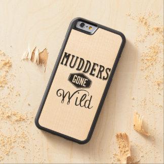 Mudders Gone Wild Wordart Carved Maple iPhone 6 Bumper Case