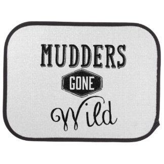 Mudders Gone Wild Wordart Floor Mat