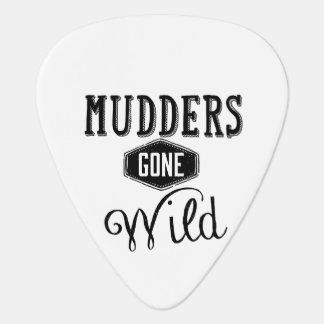 Mudders Gone Wild Wordart Guitar Pick