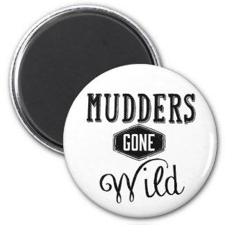 Mudders Gone Wild Wordart Fridge Magnets