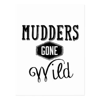 Mudders Gone Wild Wordart Postcard