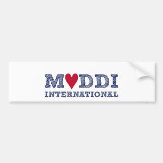 MUDDI INTL Series zum Muttertag Car Bumper Sticker