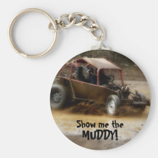 Mudding in a Dune Buggy Keychain