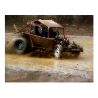 Mudding in a Dune Buggy Postcard