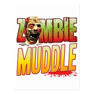 Muddle Zombie Head Postcard