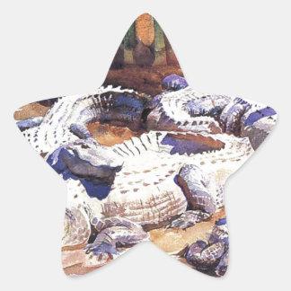Muddy Alligators by John Singer Sargent Star Sticker