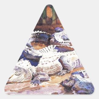 Muddy Alligators by John Singer Sargent Triangle Sticker